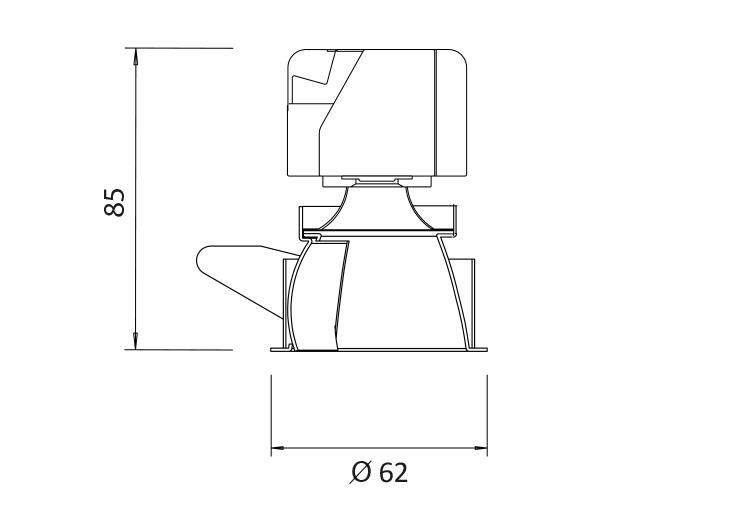 Minitrim 62 Wallwasher Product Dimensions